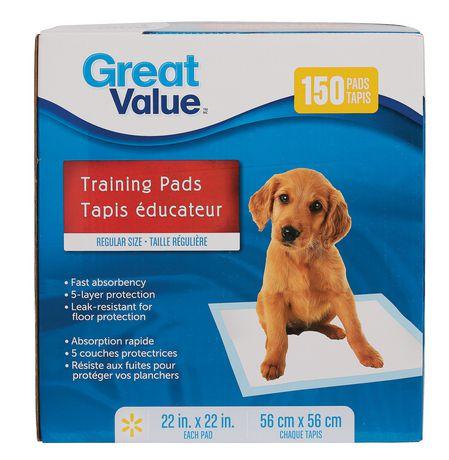Great Value Regular Puppy Training Pads - image 1 of 1