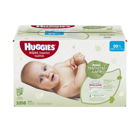 Huggies 174 Natural Care Fragrance Free Baby Wipes Walmart Ca