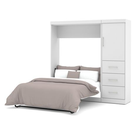 nebula by bestar 84 full wall bed kit in white walmart canada. Black Bedroom Furniture Sets. Home Design Ideas