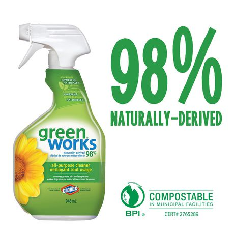 Green Works All-Purpose Cleaner Spray, 946 mL - image 2 of 7