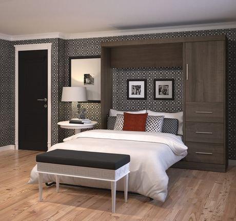 ensemble lit escamotable 2 places 84 po de nebula par bestar antigua walmart canada. Black Bedroom Furniture Sets. Home Design Ideas