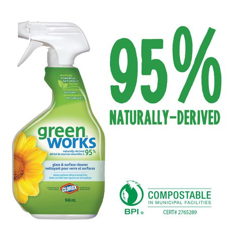 Green Works Glass & Surface Cleaner Spray, 946 mL - image 2 of 6