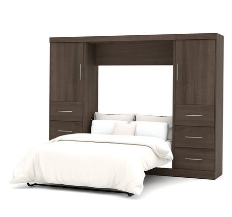 Ensemble lit escamotable 2 places 109 po de nebula par bestar antigua walmart canada - Lit escamotable 2 places ...