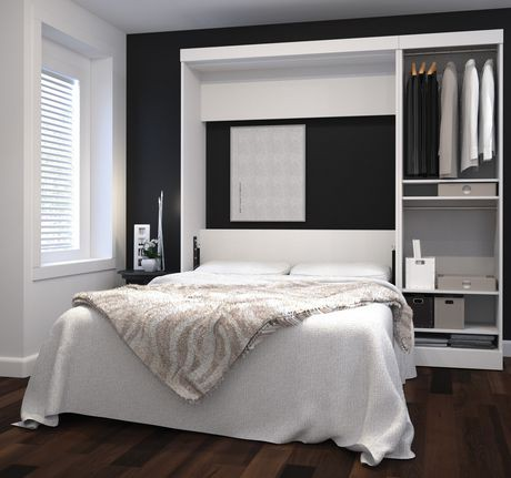 ensemble lit escamotable 2 places 84 po de nebula par bestar blanc walmart canada. Black Bedroom Furniture Sets. Home Design Ideas