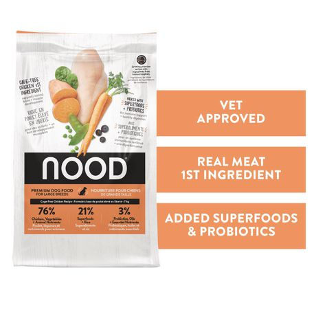 NOOD Large Breed Cage-Free Chicken and Lentil Dry Dog Food - image 1 of 9