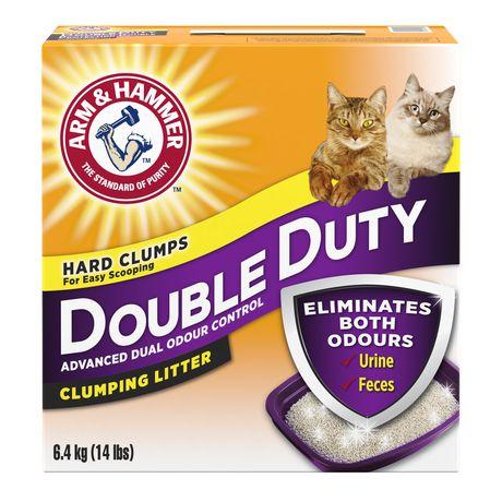 Litière agglomérante ARM & HAMMER à formule avancée anti-odeurs protection double pour chats - image 1 de 2