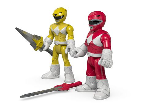 Fisher-Price Imaginext Power Rangers Red Ranger & Yellow Ranger Figures - image 6 of 8