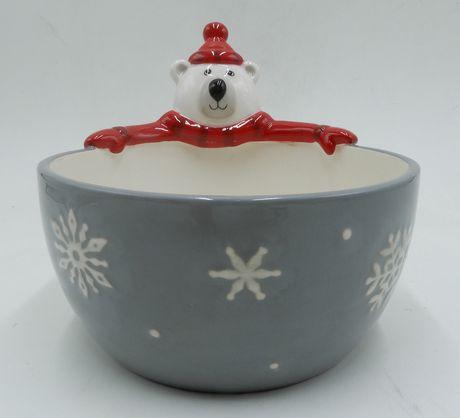 Bol Holiday Time à modtif d'ours polaire - image 1 de 1