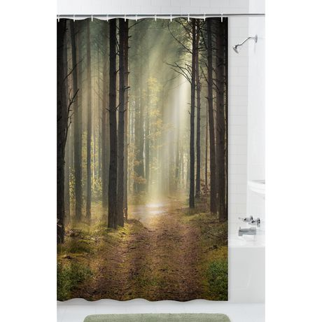Mainstays Trailblazer Fabric Shower Curtain