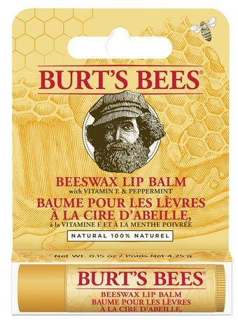 Burt's Bees 100% Natural Moisturizing Lip Balm, with Vitamin E and Peppermint - 1 Tube - image 3 of 3