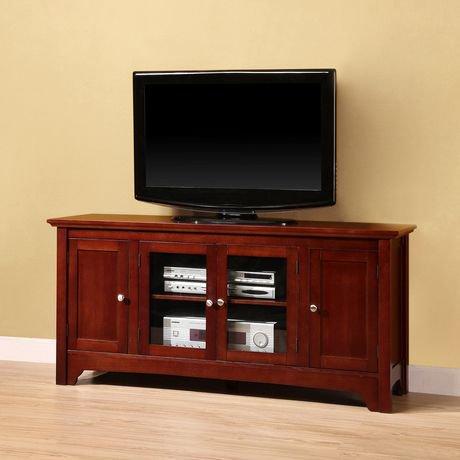 Meuble pour t l viseur en bois marron de we furniture 52 for Meubles pour televiseur