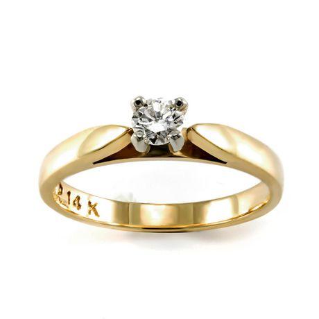 0.15 ct Round Brilliant Diamond Solitaire Ring - image 1 of 4