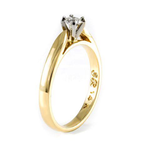 0.15 ct Round Brilliant Diamond Solitaire Ring - image 2 of 4
