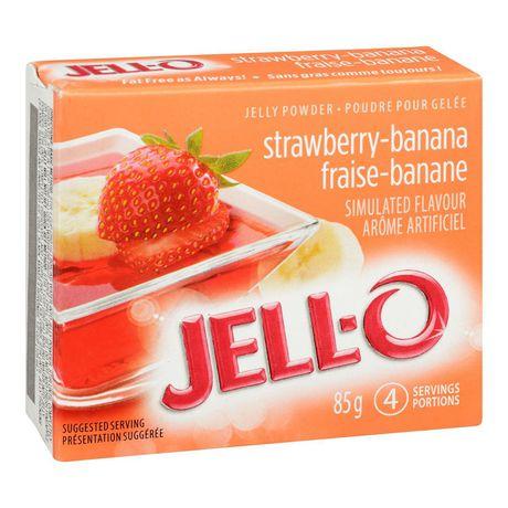 Poudre pour gelée Jell-O Fraise-banane – préparation pour dessert en gélatine - image 2 de 4