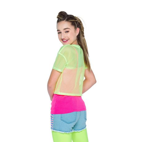 Girl's Mini Pop Kids Neon Bright Top - image 3 of 5