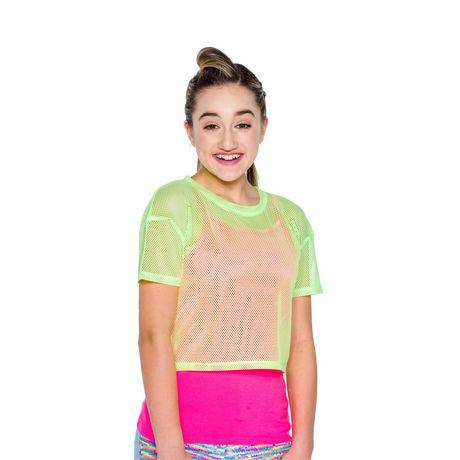 Girl's Mini Pop Kids Neon Bright Top - image 4 of 5