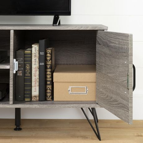 """South Shore Evane TV Stand with Doors for TVs up to 55"""", Oak Camel - image 6 of 8"""