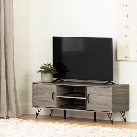 """pretty nice 63f4d c653d South Shore Evane TV Stand with Doors for TVs up to 55"""", Oak Camel"""