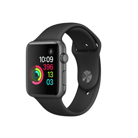 best cheap 82643 1f670 Apple Watch Series 1 42mm Space Grey Aluminum Case with Black Sport Band