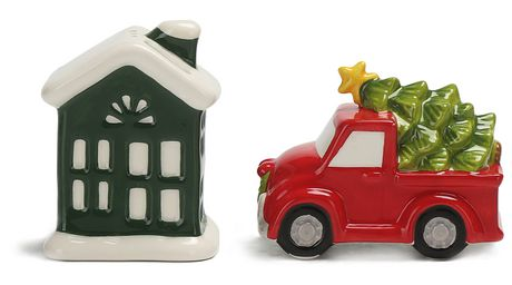 Holiday time Farm Salt & Pepper Shakers - image 1 of 1