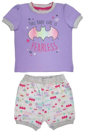 batgirl pyjama 2 pi ces b b fille walmart canada. Black Bedroom Furniture Sets. Home Design Ideas