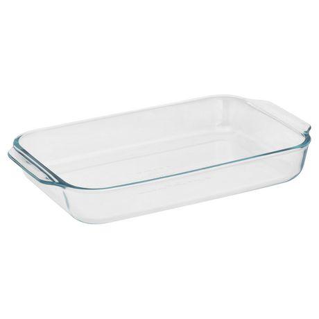 Pyrex 174 Basics 3qt 2 8l Oblong Glass Baking Dish Walmart
