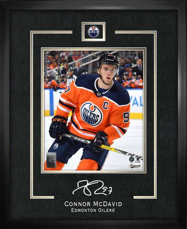 Connor McDavid Réplique Cadre Signature Oilers Edmonton - image 1 de 1