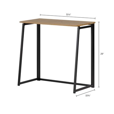 South Shore Evane Industrial Folding Computer Desk