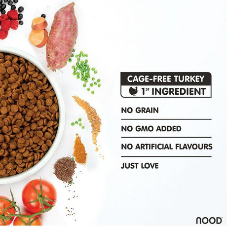 NOOD Large Breed Cage-Free Turkey and Lentil Dry Dog Food - image 3 of 9