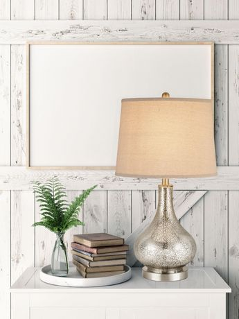 Cresswell Silver Mercury Glass Finish Table Lamp - image 7 of 8