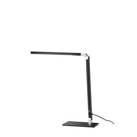 Lampe de bureau Cresswell noire à DEL avec bras réglable et prise de chargement USB - image 1 de 6