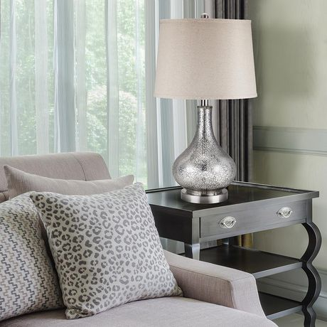 Cresswell Silver Mercury Glass Finish Table Lamp - image 6 of 8