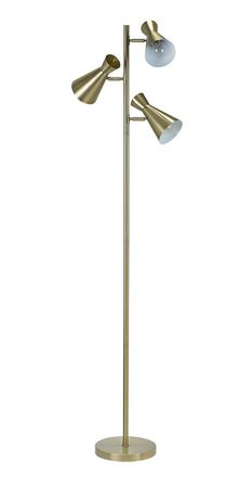 Cresswell 3 Light Antique Brass With Adjustable Shades