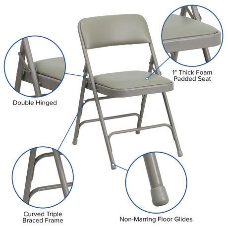 chaise pliante de la collection hercules de flash furniture en tissu gris et en m tal trois. Black Bedroom Furniture Sets. Home Design Ideas