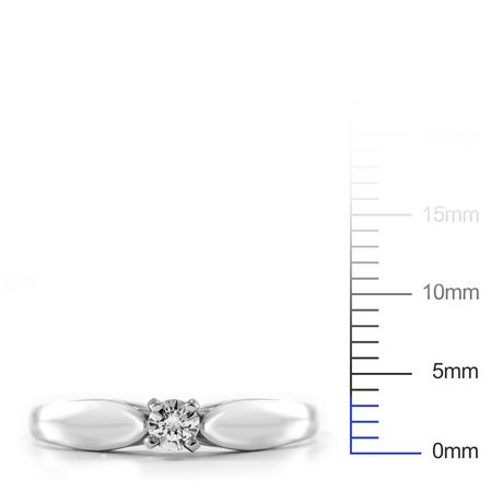 0.10 ct - Round Brilliant Diamond Solitaire Ring in Sterling Silver - image 4 of 4