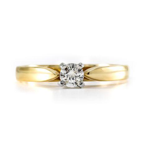 0.15 ct Round Brilliant Diamond Solitaire Ring - image 3 of 4