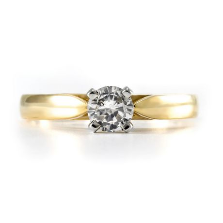 0.30 ct - Round Brilliant Diamond Solitaire Ring in 14kt Yellow Gold - image 3 of 4