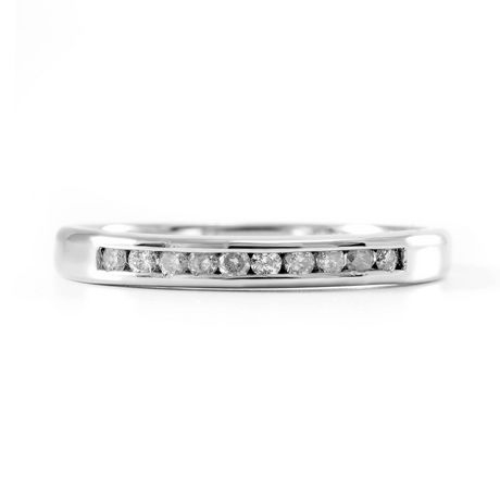 0.15 ct - Diamond Wedding Band in Sterling Silver - image 3 of 4