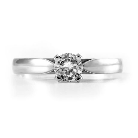 0.30 ct Round Brilliant Diamond Solitaire Ring in 14kt White Gold - image 3 of 4