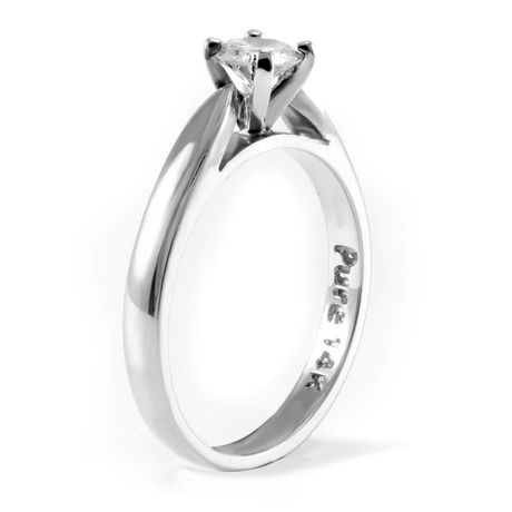 0.30 ct Round Brilliant Diamond Solitaire Ring in 14kt White Gold - image 2 of 4