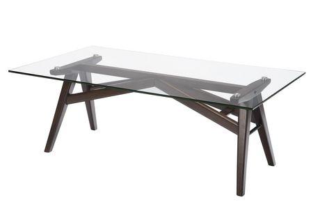 Topline Home Furnishings Table basse en verre - image 1 de 2