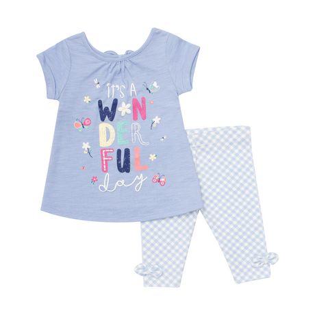 BABY GIRL  2 PIECE T-SHIRT//LEGGING SET