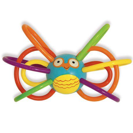 Manhattan Toy Zoo Winkel Owl Rattle And Sensory Teether - image 1 of 5