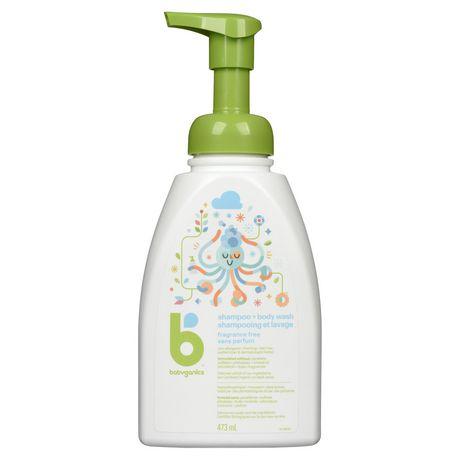 Nettoyant pour le corps et le shampooing Babyganics, sans parfum, 473 ml - image 1 de 6
