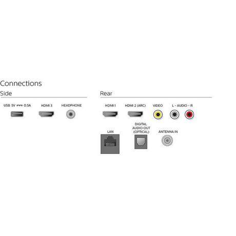 """Téléviseur intelligent Android 55 """"4K UHD HDR10 de Philips avec Google Assistant intégré, 55PFL5704/F7 - image 9 de 9"""