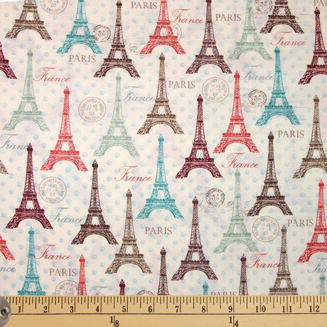 Fabric by The Metre - Fabric Creations Cotton - Eiffel Spring - image 1 of 1
