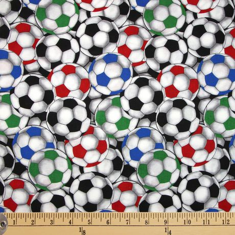 99c7c20e9 Fabric by The Metre - Fabric Creations Cotton - Packed Soccer Balls - image  1 of ...