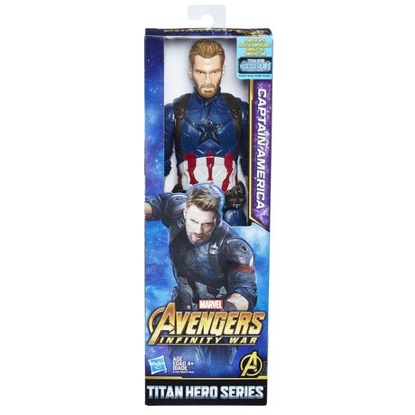 Marvel Avengers: La guerre de l'Infini - Titan Hero Series - Capitaine America avec port Titan Hero Power FX - image 1 de 2