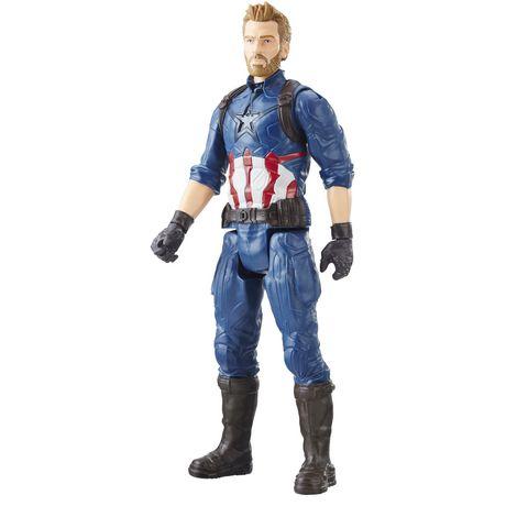 Marvel Avengers: La guerre de l'Infini - Titan Hero Series - Capitaine America avec port Titan Hero Power FX - image 2 de 2