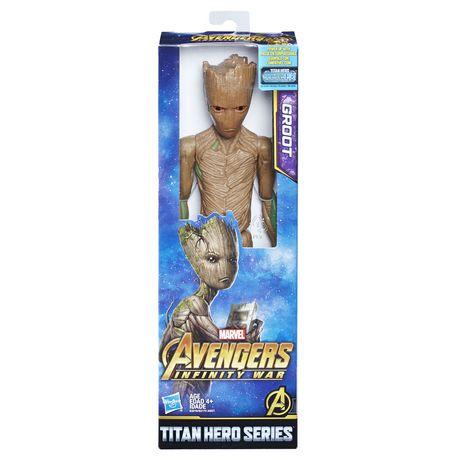 Marvel Avengers: La guerre de l'Infini - Titan Hero Series - Groot avec port Titan Hero Power FX - image 1 de 2
